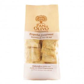 Pan de Olivo - Regañá - AOVE y Sal Virgen del Manantial 10 bolsas 200gr
