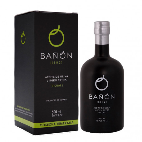 Aceites Bañón - Cosecha Temprana - Picual - Estuche Botella 500 ml