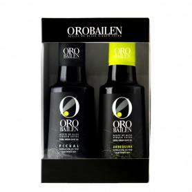 Oro Bailén - Reserva Familiar - Arbequina y Picual - Estuche Ventana 2 Botellas 250 ml