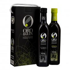 Oro Bailén - Reserva Familiar - Arbequina y Picual - Estuche Asa Cordón 2 Botellas 500 ml