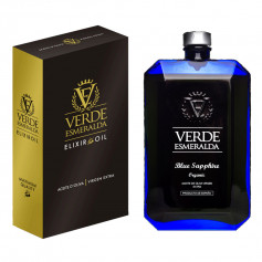 Verde Esmeralda - Blue Sapphire - Orgánico - Picual - Estuche Botella 500 ml