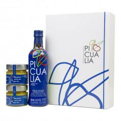 Picualia - Premium - Picual - Estuche con botella 500 ml y mermeladas